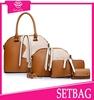 2015 new 4pcs set bags studded handbag handbags brands famous durable pu bags ladies fancy tote bags women fashion handbags