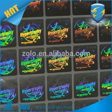 ZOLO super quality PET Custom 3d Hologram Sticker, private label energy drink
