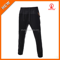 Cheap custom narrow bottom jeans pants tapered track pants add logo