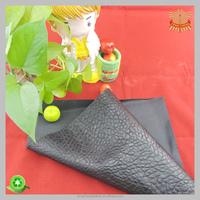 black elephant skin embossed PVC leather for bag women
