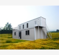 Environmental Glass with Furnishing portable waterproof prefab cabin container