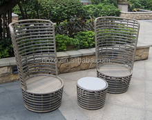 S&D outdoor furniture PE rattan/ wicker table chair coffee table chair