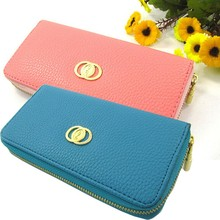 Hot promotion various stylesleather wallets women,fashion clutch ladies,pink pursefor girl