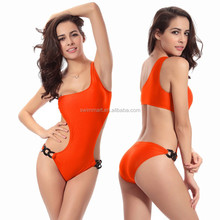 Victoria Style 2015 Acrylic Chain One shoulder Fashion Lady's swimsuit
