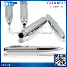 Hot sell 2015 new products ballpen classic stylus pen stand with screen cleaner