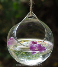 Disc Ball Hanging Vase Wedding Vase Hydroponic Planter Terrairum Spring Glass