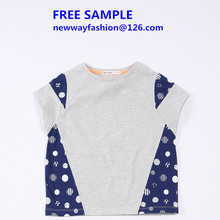 2015 new design print children t shirt kids t-shirt wholesale