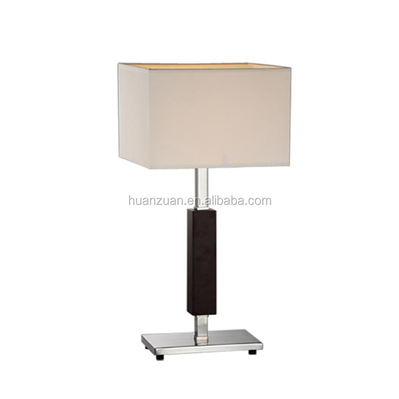 커피 섬유 현대적인 목재 테이블 램프, 거실 나무 램프, 나무 ...