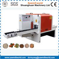 timber multi saw blade machine, multi rip saw, portable wood circular sawmill