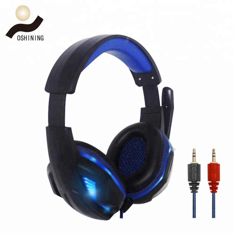 Shen Zhen fabricante OEM moda música micrófono con cable auriculares de Juegos de ordenador OS-711MV