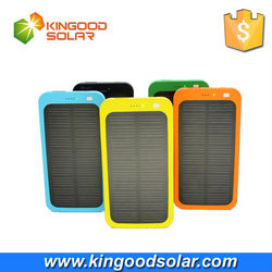 Customized 5000mAh light slim stylish fast charging portable solar cell phone charger
