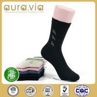 China Manufacturer Wholesale 100% bamboo fiber sock organic for men