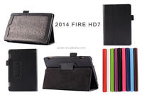 High Quality Lychee PU Leather Case with Stand For Amazon Kindle Fire HD7 (2014)