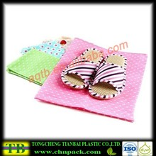 Cute non woven shoe bags with drawstring for travel