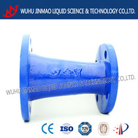 ACS and CE manufacturer epoxy resin coasting double flanged reducer