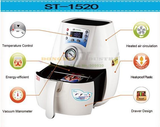 Купить Бесплатная доставка 3D Кружка Сублимации Машины ST-1520-PC и Кружка 3D теплообмена machineWith ПК и Передачи Тепла Кружки Части печати машина