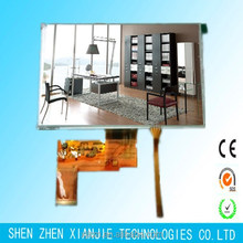 7 inch tft lcd 800x480 Luminance 550cd/m2 40pin lcd display VDD 2.8V with capacitive touch panel