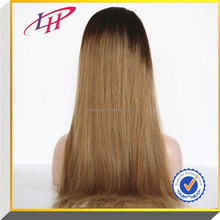 """16-30 """" inch ,Factory price!100% Brazilian remy hair, two tone virgin human hair Full Lace Wigs with baby hair"""