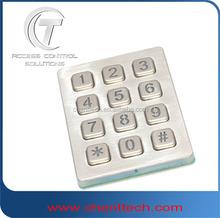 Electrical and Mechanical Locking keypad backlit keypad 3x4