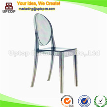 (SP-AC111) Event rental stacking armless victoria ghost side chair