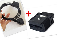 gps device OBDII interface/read trip computer data GPS blind spots,vibration, displacement gps tracker obd2 +OBD extension cord