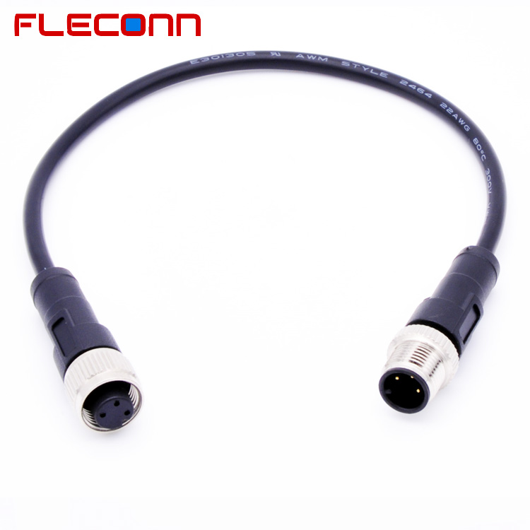 Male to Female M12 Cordset