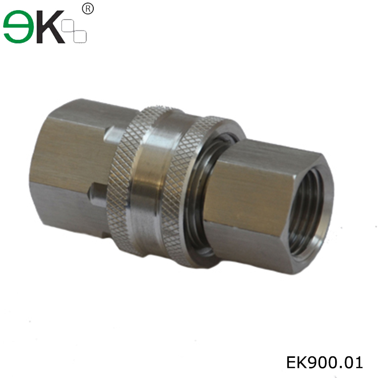 Stainless steel unvlaved high flow fluid quick hydraulic
