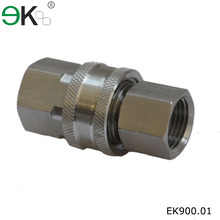 stainless steel unvlaved high flow fluid quick hydraulic connector
