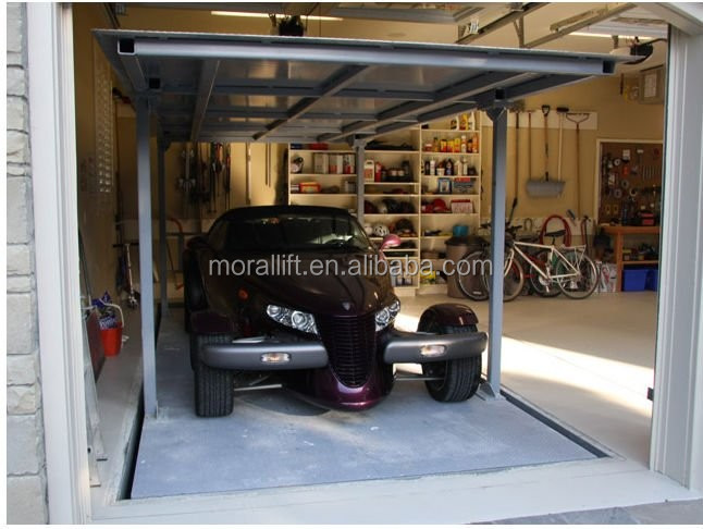 Un parking souterrain garage voiture ascenseur ponts for Garage souterrain ascenseur