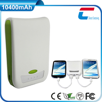 Rechargeable portable charger with LED light display