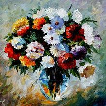 Handmade palette knife flower oil painting wholesaler painting on canvas