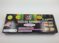 Loom Bracelet Making Kit Includes 600 Rubber Bands, S-clips, Loom