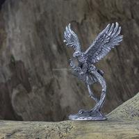 Antique silver Pewter eagle figurine