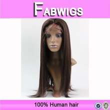 Alibaba new products wholesale price fast delivery 20 inch #2 100% human brazilian hair yaki short full lace wigs