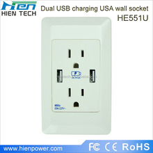 New PC Material Wall Switch Socket American Style Best Price Hot Sale Wall Socket with ETL