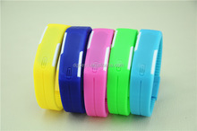Fatory direct sale cheap LED Silicon Jelly wrist watches