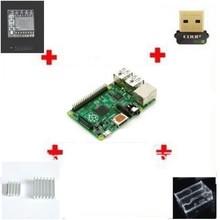 1set=6pcs 6 IN 1 Rev 3.0 512 ARM Raspberry Pi Model B+ 2 heat sinks+ 1 board case +1 EDUP network card+ 1 DS3231 clock module