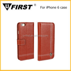 High quality mobile phone case for iphone 6 , wallet case for iphone 6