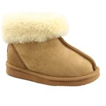 Kids warm leather slipper