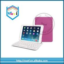 2015 Hot sale Mini Bluetooth keyboard leather case for IPad Mini