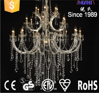 2016 antique luxury acrylic crystal chandelier 24L/CE,UL,GS certificate (NS-120230)