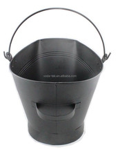 Metal coal bucket for fireplace