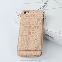 Top Style Fashion Design High Quality Graffiti Genuine Leather Phone Case for iPhone 6