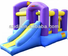 Small Inflatable Bouncer With Violet Layered Slide