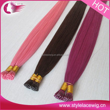 Any color available 100% human hair pre bonded hair extensions uk