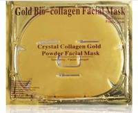 FEDEX free 120pcs/lot Spa Beauty Product 24K gold collagen crystal facial mask