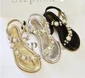 2015 moda sandalias con plataforma al por mayor sandalias con decoración de la perla