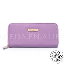 BELLUCY Brand Classic Genuine Leather Lavender Wallet