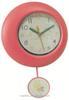 blue plastic flip flap wall clock with swing clock movement