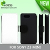 Sublimation Blank China leather phone cases for Sony Z3 compact